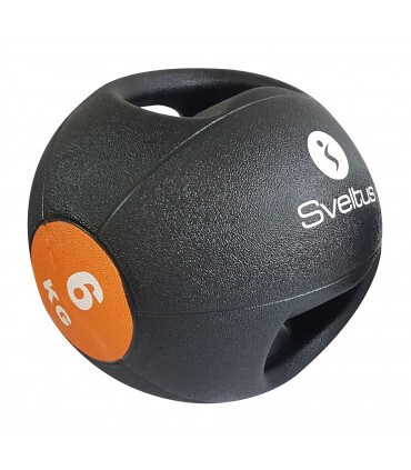 Médecine ball avec poignées - 6 kg