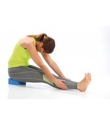 Yoga brick bleu