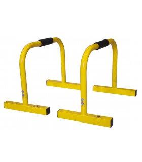 Mini barre parallèle jaune x2