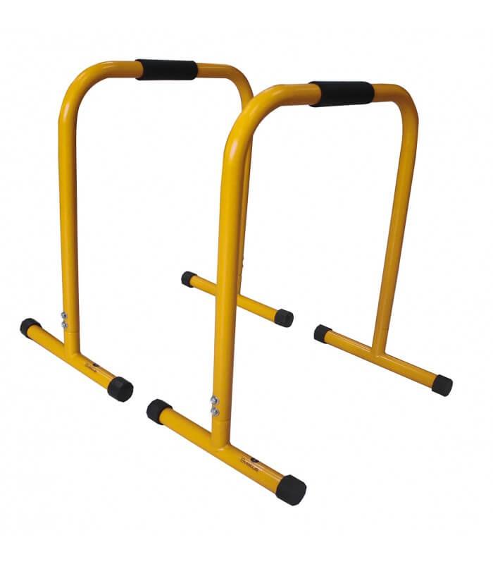Barre parallèle jaune h72 cm x2