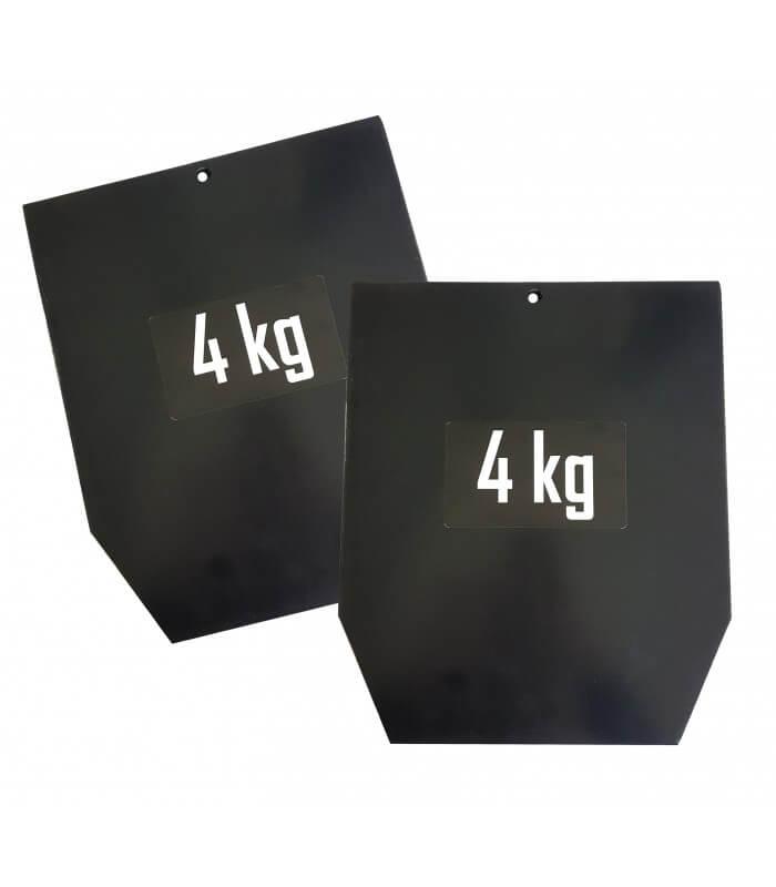 Plaques acier pour gilet pro (la paire)