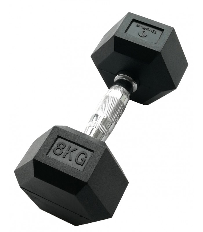 Hexagonal dumbbell 8 kg x1