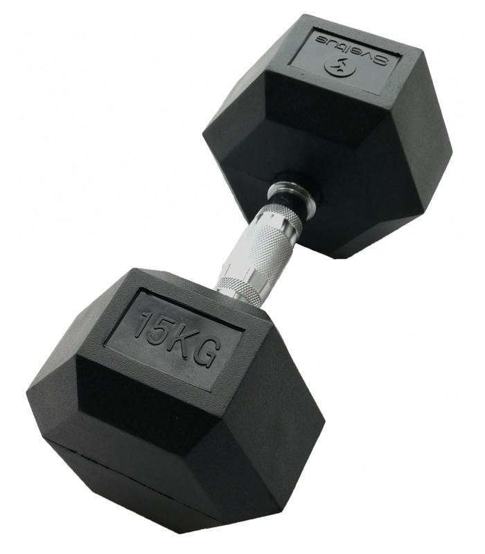 Zeshoekige halter 15 kg x1