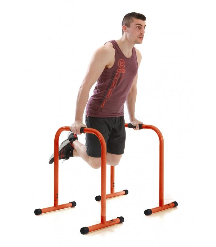 Parallel fitness bars 72cm - orange pair