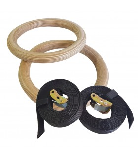 Wooden gym ring x2