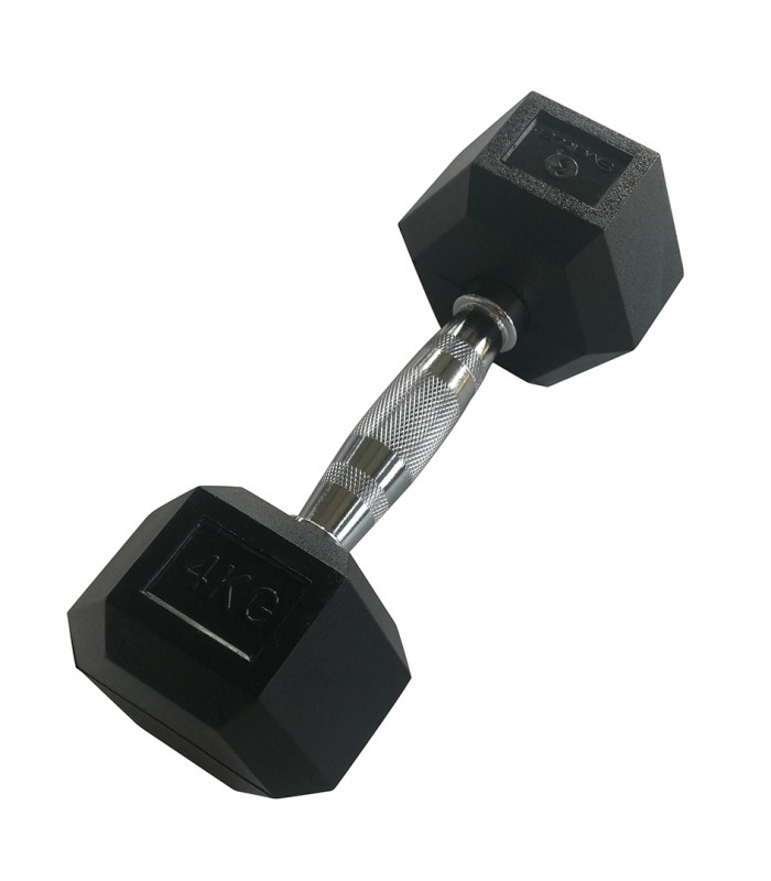 Dumbbell hexagonal 4 kg x1
