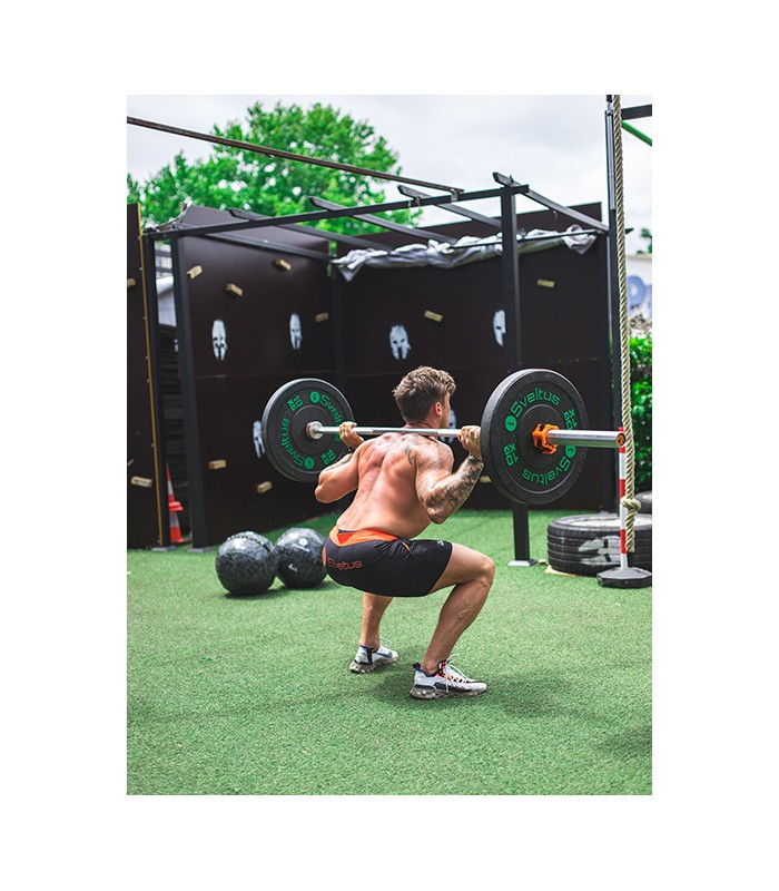 Barre olympique homme 220 cm orange