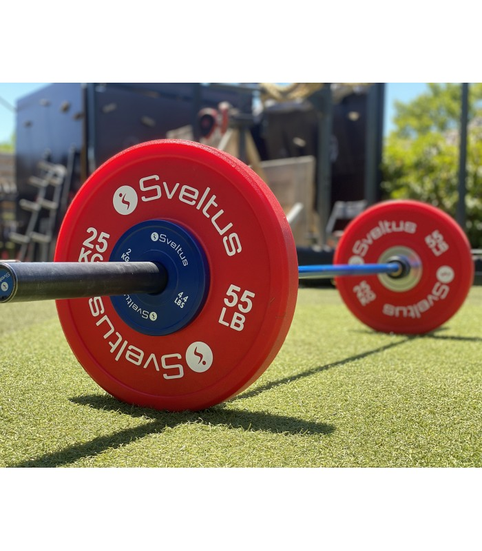Men's olympic bar 220 cm royal blue