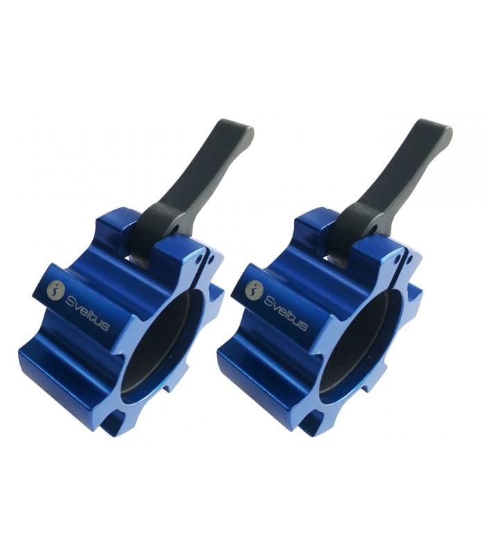 Stop disque aluminium bleu Ø51 mm x2