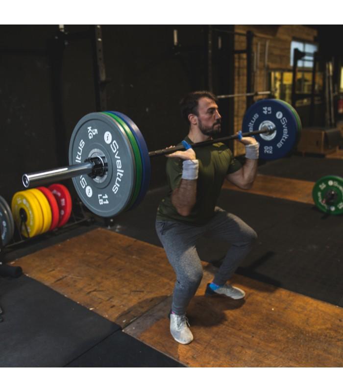 Men's olympic bar 220 cm V2