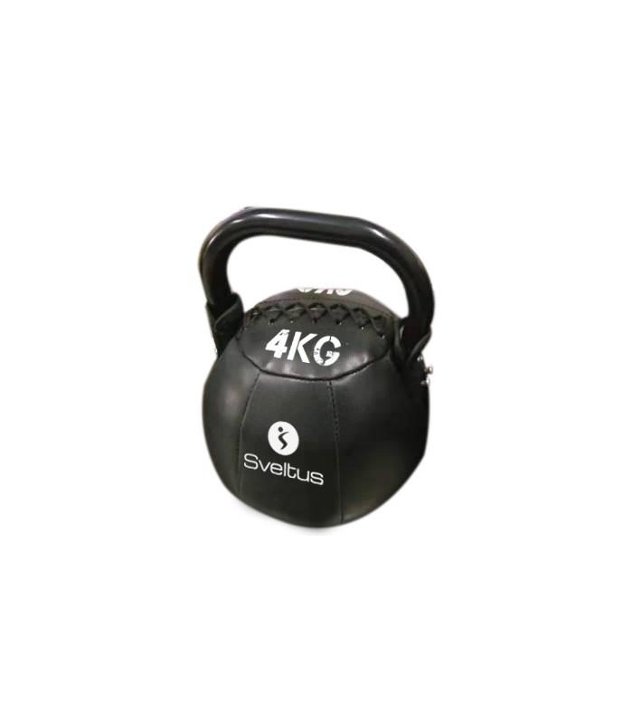 Soft kettlebell PU noir 4 kg